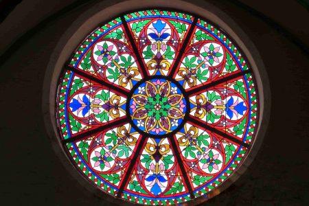 Glas in lood ramen voor extra sfeer